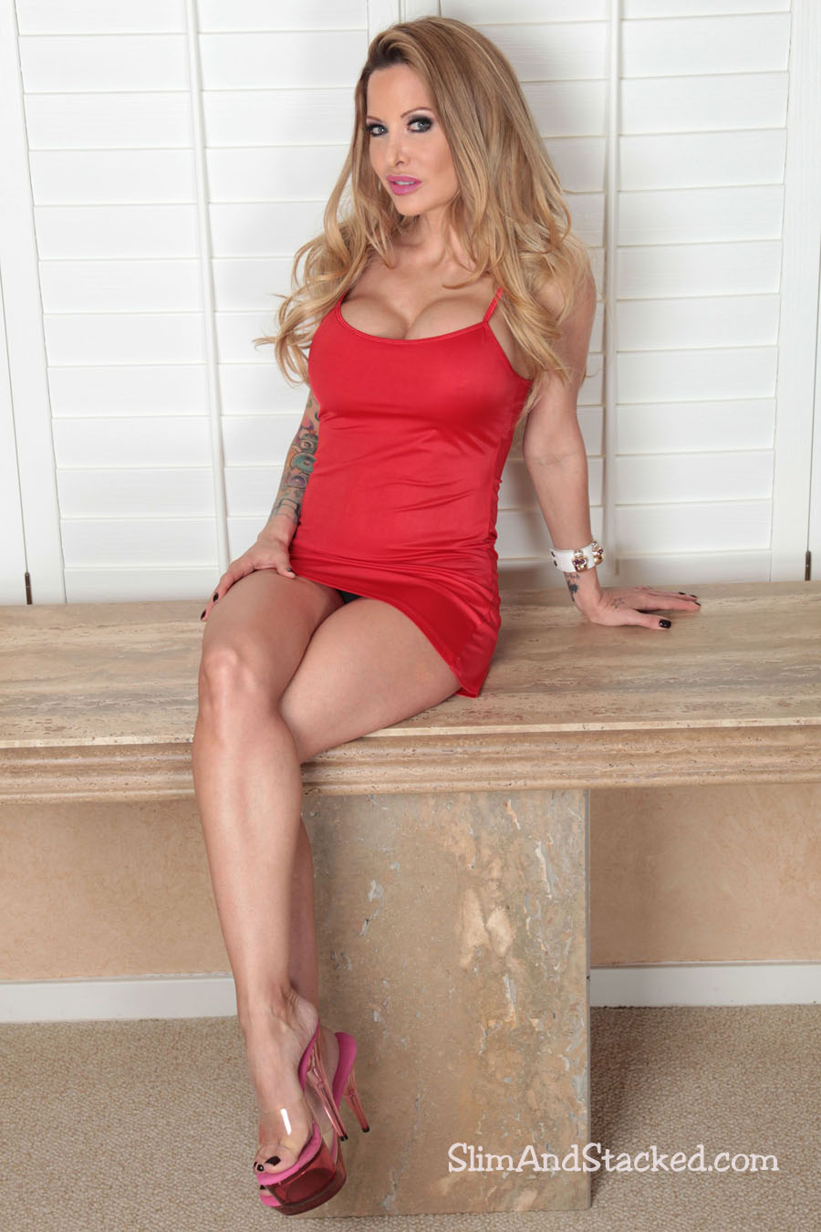 Helly has a burning sexuality and her short red dress really shows off her assets.  Things get even hotter as the dress disappears.  Own the entire 3000 pixel set by contacting dezertimagez@gmail.com for pricing.
