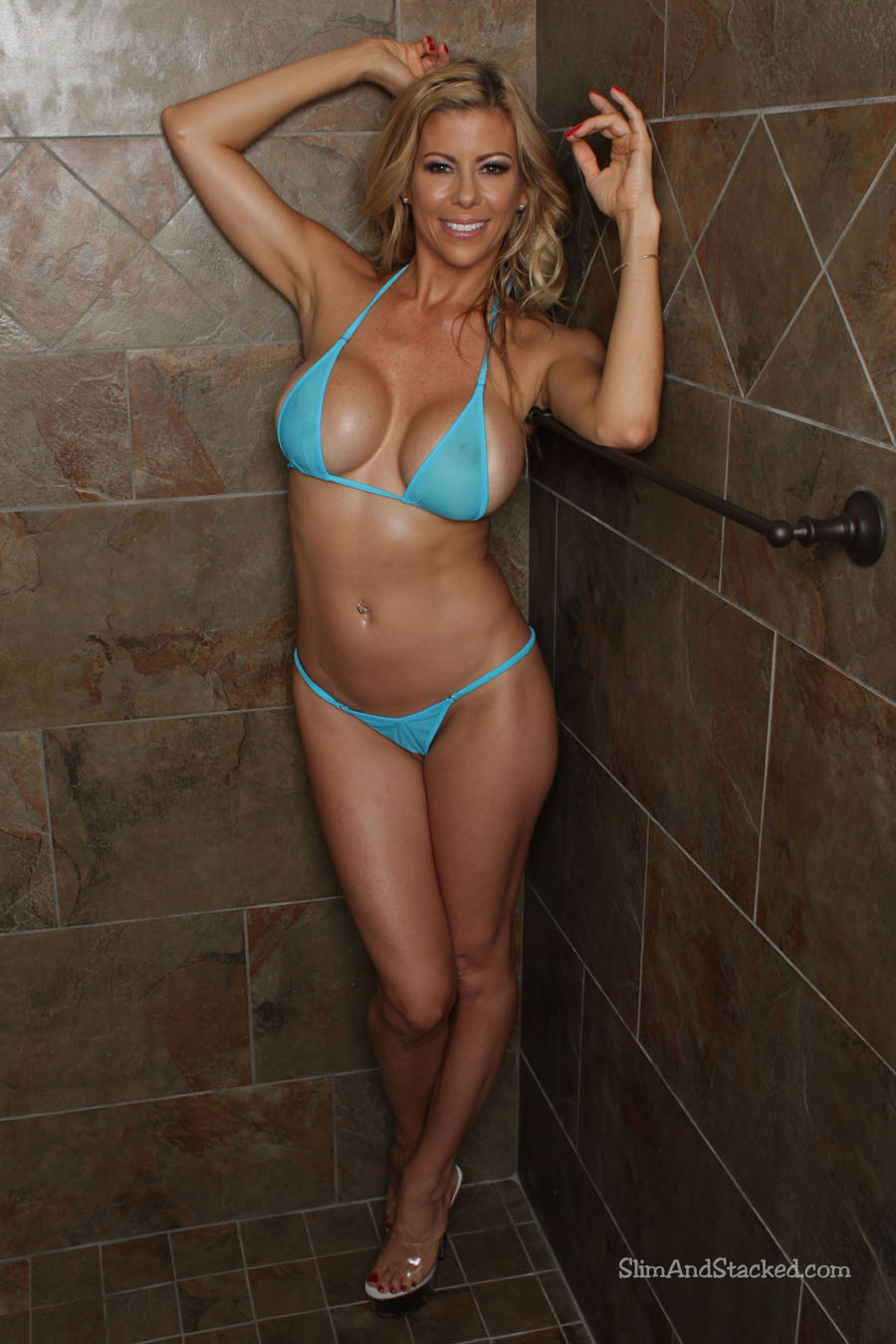 "Today we ask the musical question, ""Who wants to share a shower with Alexis Fawx?""  OK, it's not musical, but who cares?  Alexis is wet and wild.  See just how wild by owning ""Alexis - Sexy in Suds"".  Contact dezertimagez@gmail.com for set pricing."